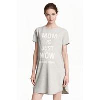 H&M MAMA Koszula nocna z dżerseju 0386995001 Szary