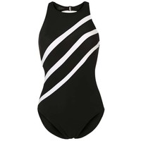 Miraclesuit TRIPLE PLAY Kostium kąpielowy black/white MR541H00M-Q11