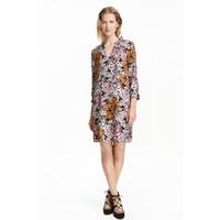 H&M Wzorzysta sukienka 0417957002 Czarny/Kwiaty