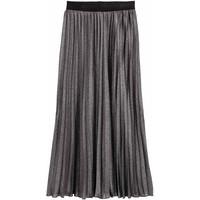 H&M Plisowana spódnica 0437484001 Czarny/Srebrny