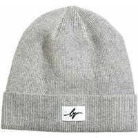 H&M Bawełniana czapka w prążki 0416911003 Szary melanż