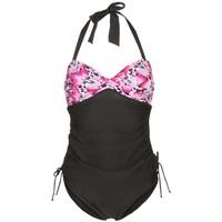 Zoggs SWIM SAFARI Kostium kąpielowy black/pink ZG141H018
