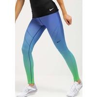 Nike Performance Legginsy light green spark/deep royal blue/black N1241E08L