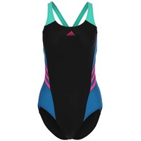 adidas Performance Kostium kąpielowy black/unity blue/shock pink AD541H038