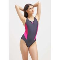 adidas Performance Kostium kąpielowy utility black/ bold pink/shock pink AD541H02A