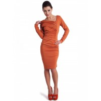 Kartes Moda Sukienka SUKIENKA Model KM05-4 Orange