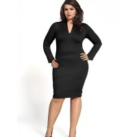 Kartes Moda Sukienka SUKIENKA Model KM08PS Black PLUS SIZE