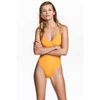 H&M Kostium kąpielowy 0492901006 Ciemnożółty