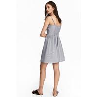 H&M Krótka sukienka 0504113005 Biały/Czarny wzór