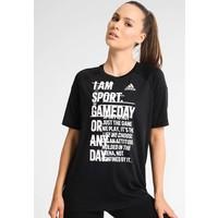 adidas Performance I AM SPORT T-shirt z nadrukiem black AD541D0JW