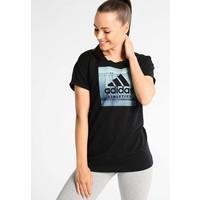 adidas Performance CATEGORY T-shirt z nadrukiem black AD541D0JY