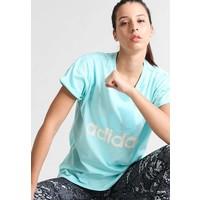 adidas Performance ESSENTIALS T-shirt z nadrukiem aqua AD541D0GM