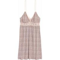 H&M Koszula nocna z koronką 0464848001 Pudrowy/Wzór