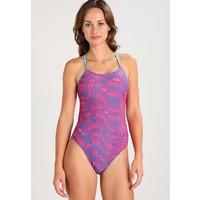 Nike Performance WAVE CUT-OUT Kostium kąpielowy racer pink N1281G004