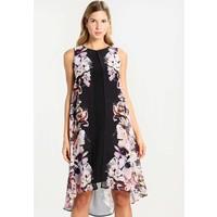 Wallis FLORAL OVERLAY SPLIT FRONT DRESS Sukienka letnia black WL521C0CB