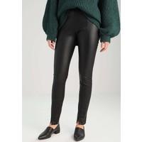 Weekday MOON LIMITED EDITION Spodnie skórzane black WEB21A002