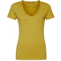 BOSS Orange T-shirt basic - żółty