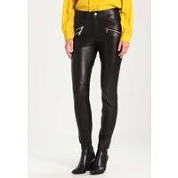 SET Spodnie skórzane black S1721A01L
