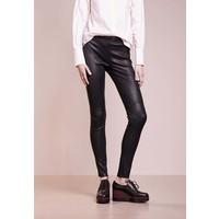 Bruuns Bazaar CHRISSY Spodnie skórzane black BR321A01H