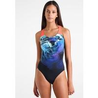 Speedo Kostium kąpielowy black/turquoise/siren red 1SP81G01G