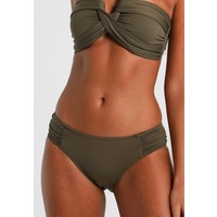 Seafolly RUCHED SIDE RETRO Dół od bikini dark olive S1981I00D