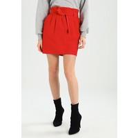 Miss Selfridge PAPERBAG WAIST SKIRT Spódnica mini red MF921B05H