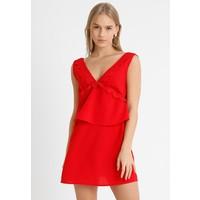 Missguided Petite PLUNGE DETAIL MINI DRESS Sukienka letnia red M0V21C042