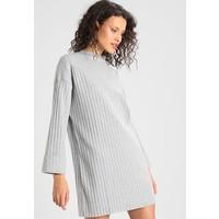 Missguided LONG SLEEVE FOLDED CUFF DRESS Sukienka dzianinowa grey M0Q21C0QP