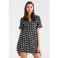 Missguided HEART BUTTON FRONT MINI DRESS Sukienka letnia black M0Q21C0QH