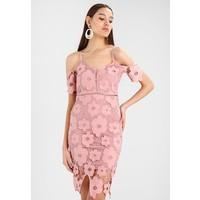 Missguided STRAPPY COLD SHOULDER BODYCON DRESS Sukienka koktajlowa pink M0Q21C0PW