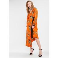Warehouse SONGBIRD WRAP MIDI DRESS Długa sukienka orange WA221C0D9