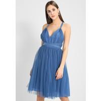 Missguided BRIDESMAID PLUNGE TIE DETAIL MINI SKATER Sukienka koktajlowa cornflower blue M0Q21C0T5