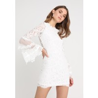 Missguided FLARE SLEEVE PANEL MINI DRESS Sukienka koktajlowa white M0Q21C0VV