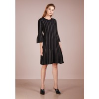 c049c2ef487a3 MICHAEL Michael Kors FLARE DRESS Sukienka dzianinowa black  gold MK121C0AD  ...