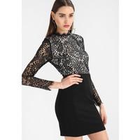 Missguided FLORAL HIGH NECK BODYCON DRESS Sukienka koktajlowa black M0Q21C0V8