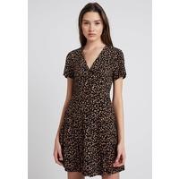 New Look EXCLUSIVE BUTTON THROUGH TEA DRESS Sukienka koszulowa black/orange NL021C0Z9