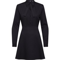 Missguided Sukienka 'Tie Neck Button Front Dress Black' MGD0152001000001