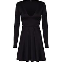 Missguided Sukienka 'Black Scuba Plunge Skater Dress' MGD0022001000003