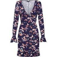 Missguided Sukienka 'Floral Front Wrap Dress' MGD0052001000001