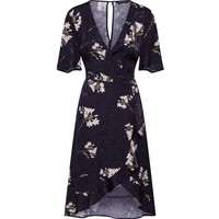 Dorothy Perkins Sukienka koszulowa 'SATIN WRAP JACQUARD MIDI' DPK0458001000001
