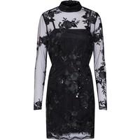 Missguided Sukienka koktajlowa 'Lace Sequin Bodycon Long Sleeved' MGD0046001000001