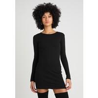 Missguided LONG SLEEVE BODYCON MINI DRESS Sukienka letnia black M0Q21C121