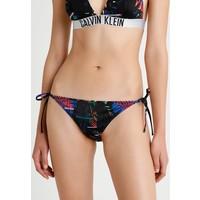 Calvin Klein Swimwear INTENSE POWER CHEEKY STRING SIDE TIE BIKINI Dół od bikini black C1781I00I