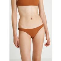 Topshop CRINKLE HIGH LEG Dół od bikini tobacco TP781I00Y