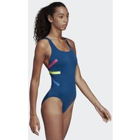 adidas Performance PRO V COLORBLOCKED SWIMSUIT Kostium kąpielowy blue AD581G02O