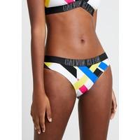 Calvin Klein Swimwear INTENSE POWER CLASSIC STRIPE Dół od bikini white/multicolor C1781I00Y
