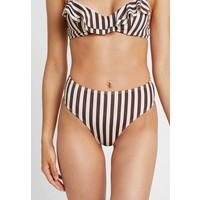 NA-KD STRIPED HIGH WAIST BOTTOM Dół od bikini brown/white NAA81I002