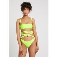 Missguided SQUARE NECK HIGH LEG TIE WAIST BREIF SET Bikini lime M0Q81L011