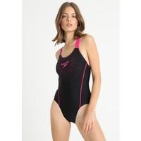 Speedo SPORTS LOGO Kostium kąpielowy black/electric pink 1SP81G020