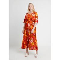 CAPSULE by Simply Be CRINKLE SQUARE NECK DRESS Długa sukienka orange CAS21C00K